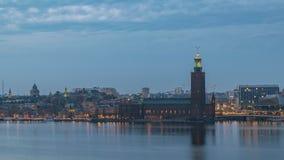 Laps de temps de Stockholm Suède banque de vidéos