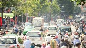 Laps de temps/trafic sur la rue passante Ho Chi Minh City - au Vietnam du centre banque de vidéos