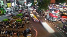 Lapso de Chiang Mai Night Market Time almacen de metraje de vídeo