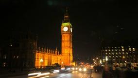 Lapso de la noche de ben grande en Londres almacen de video