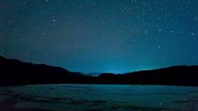 Lapso de la noche en el Agua del EL de Hierve, valles centrales de Oaxaca, México metrajes