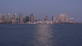 Lapso de San Diego City Skyline Sunset Time vídeos de arquivo