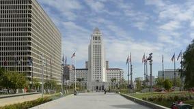 Lapso de tempo cênico da cidade Hall Plaza Daytime de Los Angeles video estoque