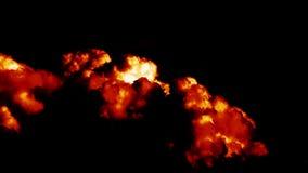 Lapso de tempo cinemático épico de sopro de queimadura das nuvens video estoque
