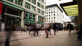 Lapso de tempo da área de compra de Hamburgo filme