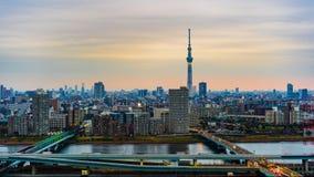 Lapso de tempo da arquitetura da cidade do Tóquio, Japão video estoque