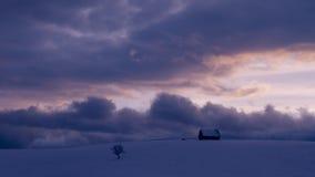 Lapso de tempo da cena do inverno do por do sol vídeos de arquivo