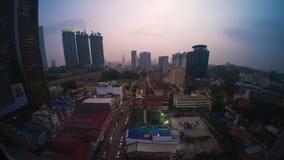 Lapso de tempo da cidade de Kuala Lumpur video estoque