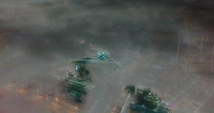 Lapso de tempo da cidade sob as nuvens, laço video da noite video estoque