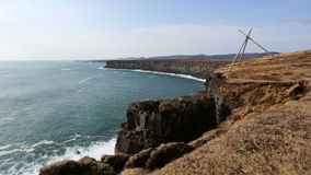 Lapso de tempo da costa sul de Islândia Fotos de Stock