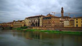 Lapso de tempo da galeria de Uffizi e do Palazzo Vecchio, Florença vídeos de arquivo