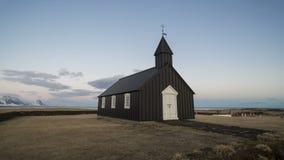 Lapso de tempo da igreja de Budir, Islândia, dia, video estoque