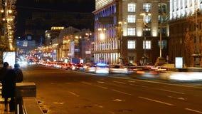 Lapso de tempo da metrópole da cidade da noite video estoque