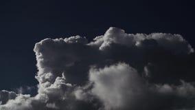 Lapso de tempo da nuvem video estoque