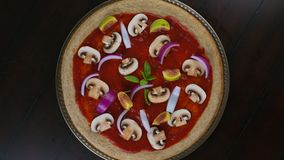 Lapso de tempo da pizza do vegetariano filme