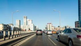 Lapso de tempo da rua da cidade que conduz o Pequim vídeos de arquivo
