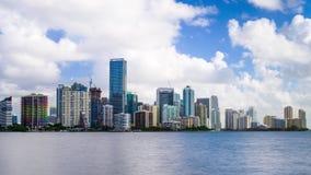 Lapso de tempo da skyline de Miami Florida EUA video estoque