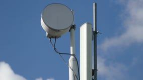 Lapso de tempo da torre da telecomunicação filme
