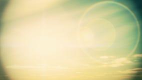 Lapso de tempo das elevações de Sun à tarde, metragem conservada em estoque filme