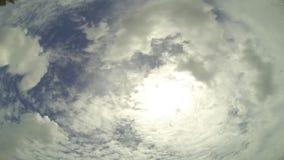Lapso de tempo das nuvens video estoque