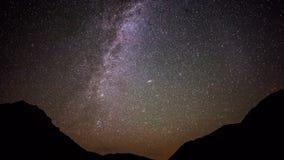 Lapso de tempo de Astro da galáxia da Via Látea filme