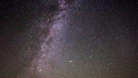Lapso de tempo de Astro da galáxia da Via Látea video estoque