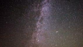 Lapso de tempo de Astro da galáxia da Via Látea vídeos de arquivo