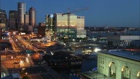 Lapso de tempo de Boston com nascer do sol video estoque