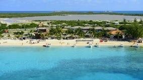 Lapso de tempo de Turk Island Beach grande de cima de vídeos de arquivo