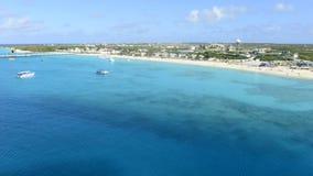 Lapso de tempo de Turk Island Beach grande do navio filme