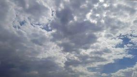 Lapso de tempo do céu do dia video estoque