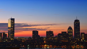 Lapso de tempo do centro de Boston Imagem de Stock