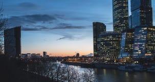 lapso de tempo do centro de negócios da Moscou-cidade vídeos de arquivo