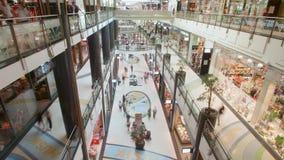 Lapso de tempo do interior de Alexa Mall video estoque