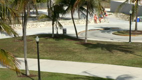 Lapso de tempo do parque 3 de Miami Beach de 5 video estoque