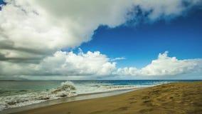 Lapso de tempo do por do sol de Caribe vídeos de arquivo