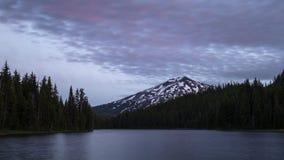 Lapso de tempo do por do sol do lago Todd vídeos de arquivo