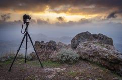 Lapso de tempo do por do sol do tiro Foto de Stock Royalty Free