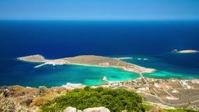 Lapso de tempo do porto de Diakofti na ilha de Kythira, Grécia video estoque