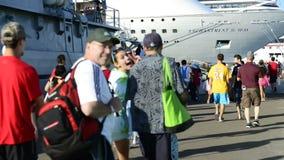 Lapso de tempo do porto do navio de cruzeiros do Bahamas video estoque