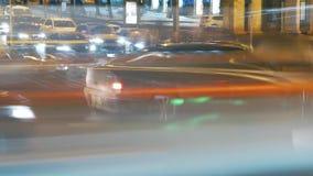 Lapso de tempo do tráfego rodoviário video estoque