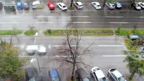 Lapso de tempo do tráfego video estoque