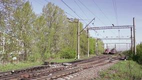 Lapso de tempo do trem de mercadorias vídeos de arquivo