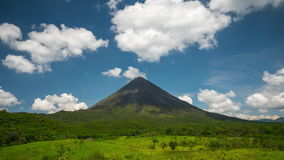 Lapso de tempo do vulcão de Arenal filme