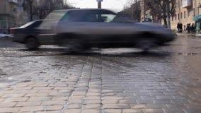 Lapso de tempo dos carros na estrada vídeos de arquivo