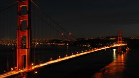 Lapso de tempo - golden gate bridge na noite - 4K - 4096x2304 filme