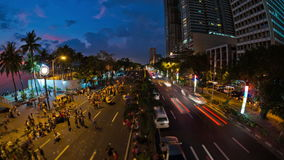 Lapso de tempo Manila do tráfego pedestre da cidade filme
