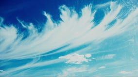 Lapso de tempo muito bonito das nuvens de cirro filme