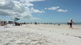 Lapso de tempo na praia clara da água video estoque