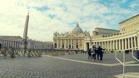 Lapso de tempo no quadrado do ` s de San Pietro St Peter da praça filme
